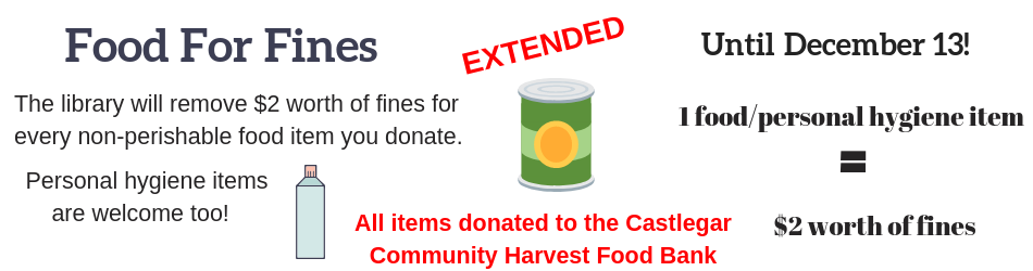 Food for Fines Extended